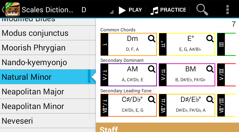 Common Chords Low Latency Piano In Piano Companion For Android